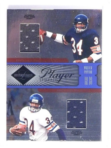 2005 Leaf Limited Player Threads Walter Payton dual jersey #D44/50 #PT26 *48714