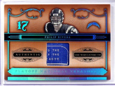 2006 National Treasures Philip Rivers Game USed Laundry Tag #D04/10 *39173