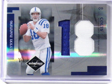 2007 Lead Limited Peyton Manning jumbo 2clr patch #D10/10 #J-15 *39203
