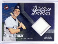 2002 Topps Pristine Patches Don Mattingly Patch #D17/25 #PADM *59999