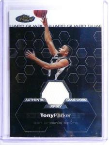 02-03 Topps Finest Tony Parker jersey #D368/999 #151 *48067