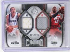 2009-10 SP Game Used Combo Materials Jersey Dirk Nowitzki Carter #D305/499 *4751
