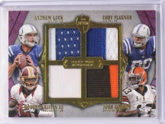 2012 Topps Supreme Andrew Luck Griffin Gordon Rookie quad patch #D5/5 *48688