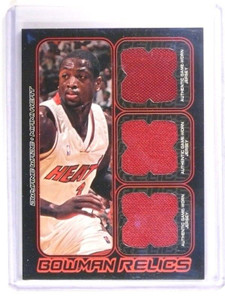 06-07 Bowman Draft Picks & Stars Dwyane Wade triple jersey #D28/50 *46802