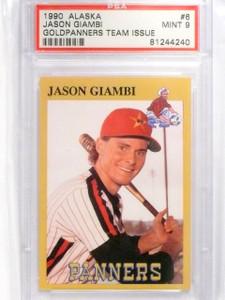 1990 Alaska Goldpanners Team Issue Jason Giambi rc rookie PSA 9 MINT *63876