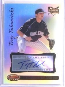 2007 Bowman's Best Troy Tulowitzki Rookie Autograph auto #90 *65762