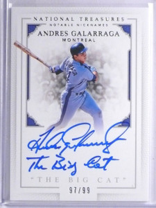 2016 National Treasures Nicknames Andres Galarraga Autograph #D97/99 *65713