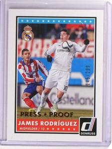 2015 Panini Donruss Soccer James Rodriguez Press Proof #D145/299 #3 *51464