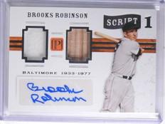 2016 Pantheon Script Brooks Robinson Bat Jersey Autograph #D07/10 #1BR *65709