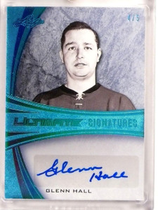 2015-16 Leaf Ultimate Signatures Glenn Hall autograph auto #D4/5 #US-GH1 *53305