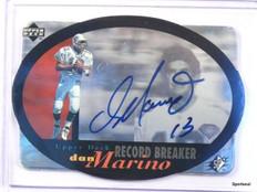 1996 Upper Deck SPX Record Breaker Tribute Dan Marino autograph auto  *42597