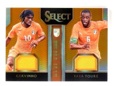 2015 Select Gervinho Yaya Toure Double Team Orange Jersey #D106/149 #DTGT *54236