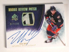 07-08 Sp Authentic Rookie Review Rick Nash autograph auto patch #D77/100 *45095