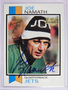 2001 Topps Team Legends Joe Namath auto autograph #TTF13 *27969