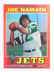 1996 Topps Stadium Club Namath Finest Refractor Joe Namath #7 1971 *63322