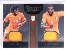 2015 Select Soccer Gervinho Yaya Toure Double Team Jersey #D034/199 #DTGT *53976