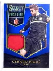 2015 Select Soccer Gerard Pique First Team Jersey Blue #D83/99 #FTGP *53969