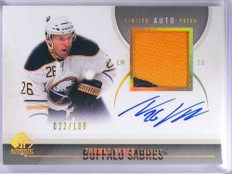 10-11 Sp Authentic Limited Thomas Vanek auto autograph 2clr patch #D22/100 *4056