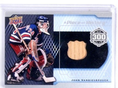 2015-16 Upper Deck John Vanbiesbrouck Piece of History 300 Win Stick *56634