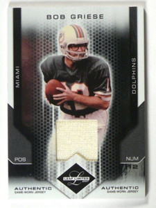 2007 Leaf Limited Bob Griese jersey #D33/100 #106 *40201