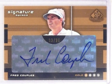 2003 Sp Game Used Signature Swings Fred Couples autograph auto #D02/25 *67506