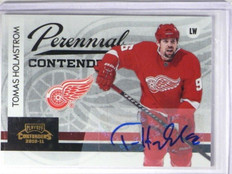 10-11 Playoff Contenders Perennial Tomas Holmstrom auto autograph #D16/25 *33800