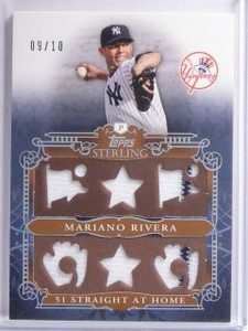 2010 Topps Sterling Stats Mariano Rivera Six Jersey #d09/10 #SSR133 *65235
