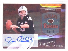 2010 Playoff Contenders Legendary Jim Plunkett autograph auto #22 *67564