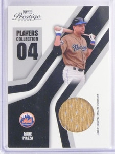 2004 Playoff Prestige Players Collection Mike Piazza Jersey #PC61 *66330