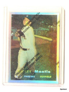 1996 Topps Chrome Refractor Mickey Mantle Reprint #7 of 19 *43828