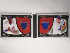 2016 Topps Museum Meaning Kyle Schwarber & Jorge Soler jersey patch book /5 *551