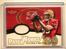 2000 Fleer Patchworks Jerry Rice 49ers patch #15 *41552