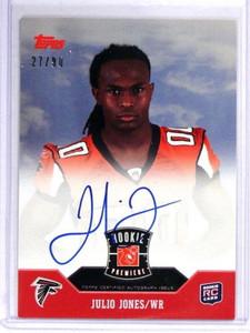2011 Topps Rookie Premiere Julio Jones auto autograph rc rookie #D27/90 *40485