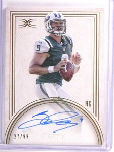 2015 Topps Definitive Bryce Petty autograph auto rc rookie #D27/99 *53608