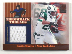 2006 Donruss Elite Throwback Threads Curtis Martin jersey #D132/249 *40425