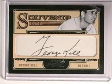 2012 Playoff Prime Cuts Souvenir George Kell autograph auto #D19/99 *45091