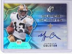 2007 UD SPX Football Marques Colston Super Scripts Autograph Auto #SS-MC *49739
