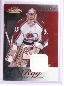 2013-14 Fleer Showcase Patrick Roy Red Glow Jersey #D08/36 #23 *54385