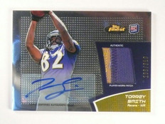 DELETE 13034 2011 Topps Finest Torrey Smith autograph auto patch rc rookie #D163/310 *46203