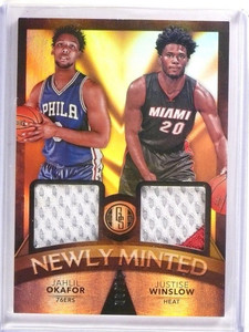 15-16 Panini Gold Standard Jahlil Okaford & Justice Winslow patch #D06/15 *53475