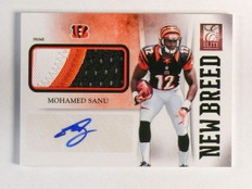 2012 Panini Elite New Breed Mohamed Sanu autograph 3clr patch rc #D25/25 *46133