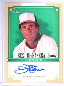 2012 Leaf Best Of Baseball Jim Palmer auto autograph #BA-JP1 *40825