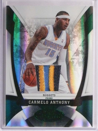 09-10 Panini Certified Mirror Emerald Carmelo Anthony 3clr patch #D2/5 *55303