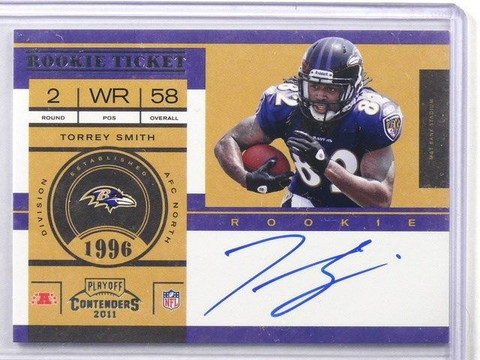 SOLD 13138 2011 Playoff Contenders Torrey Smith auto autograph rc rookie #230 *41031