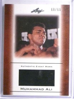 2010 Leaf Muhammad Ali Event Worn Memorabilia #D60/60 #EW-46 *67744