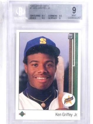SOLD 14578 1989 Upper Deck Ken Griffey Jr. rc rookie #1 BGS 9 MINT (2) 9.5 SUBS *68014