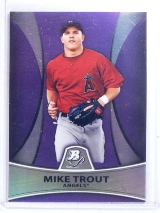SOLD 14648 2010 Bowman Platinum Purple Mike Trout rc rookie #PP5 *68085