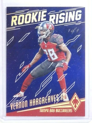 2016 Panini Phoenix Rookie Rising Blue Vernon Hargreaves #D 1/1 *68243