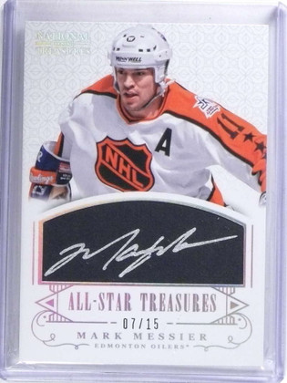 SOLD 14963 2013-14 National Treasures All-Star Mark Messier autograph auto #D07/15  *68350