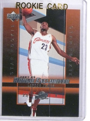 SOLD 15313 2003-04 Upper Deck Rookie Exclusives Lebron James rc #1 *68803